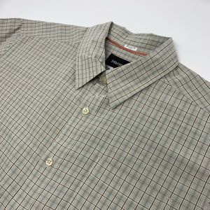 Marmot Short Sleeve Button Front Brown Plaid Shirt
